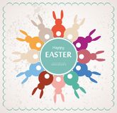 Easter bunnies arranges as flower Royalty Free Stock Photography