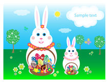 Easter Bunnies card Stock Photo