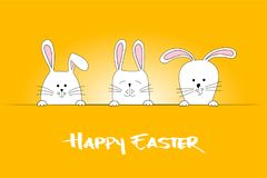 Easter bunnies. Colorful Easter greeting card. Vector illustration vector illustration