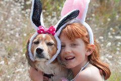 Easter bunnies ears royalty free stock image