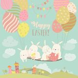 Easter bunnies and easter egg Royalty Free Stock Photography