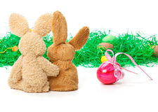 Easter Bunnies, Easter gift, Egg Stock Photography