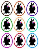 Easter bunnies in eggs Stock Photography
