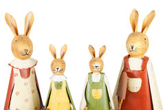 Easter bunnies family Royalty Free Stock Images