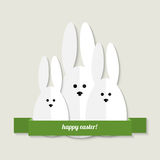 Easter bunnies greeting card Royalty Free Stock Images