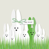 Easter bunnies greeting card Royalty Free Stock Photos