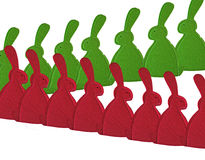 Easter bunnies are hiking Royalty Free Stock Images
