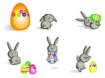Easter bunnies isolated Royalty Free Stock Photos