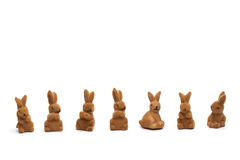 Easter Bunnies, Isolated on white Royalty Free Stock Images