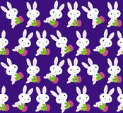 Easter bunnies pattern. Colorful pattern with cute easter bunnies Stock Photo