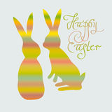 Funny striped rabbits Royalty Free Stock Images