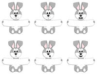 Easter bunnies set Stock Photography