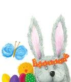 Easter bunny. Acrylic illustration of Easter bunny Stock Photos