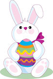 Easter Bunny. The Easter Bunny holding a big Easter Egg Stock Images