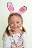 Easter Bunny. Little four years old girl as an easter bunny