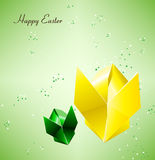 Easter Bunny. Illustration of happy Easter Origami bunny Stock Photos