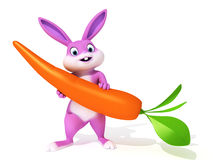 Easter bunny. 3d rendered illustration of a cute easter bunny Royalty Free Stock Photo