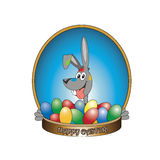 Easter bunny. Vector illustration of easter bunny with eggs Stock Illustration