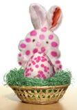 Easter bunny. Nest, easter egg, sick, measles, morbilli Royalty Free Stock Photos