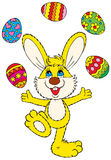 Easter Bunny. Vector clip-art / illustration for your design, scrapbook or holiday card Royalty Free Stock Photo