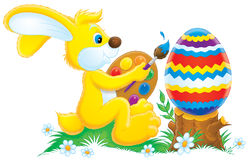 Easter Bunny. Clip-art / illustration for your design, scrapbook and holiday card Royalty Free Stock Photo