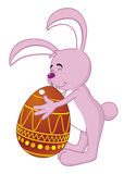 Easter bunny. Vector Isolated easter bunny with egg Royalty Free Illustration