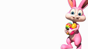 Easter bunny and alpha channel stock video footage