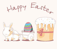 Easter Bunny. The Easter Bunny (also called the Easter Rabbit or Easter Hare) is a folkloric figure and symbol of Easter, depicted as a rabbit bringing Easter Stock Image