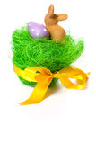 Easter Bunny And Eggs Stock Photography