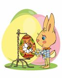 Easter bunny artist Royalty Free Stock Image