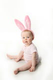 Easter bunny baby. Portrait of a cute baby dressed in Easter bunny Stock Photo