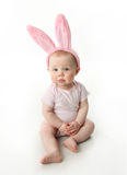 Easter bunny baby. Portrait of a cute baby dressed in Easter bunny ears Stock Photo