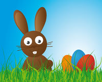 Easter Bunny Background. Vector illustration Stock Photo