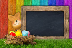 Easter bunny background Stock Photo