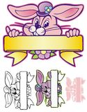 Easter Bunny Banner Royalty Free Stock Photo