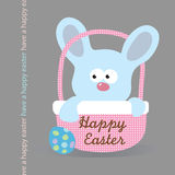 Easter Bunny in a basket Royalty Free Stock Photography