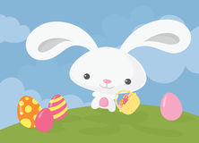 Easter Bunny Basket Stock Photos