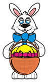 Easter bunny with basket Stock Photography