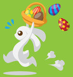 Easter Bunny with basket Royalty Free Stock Image