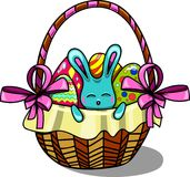 Easter bunny in a basket Stock Photography