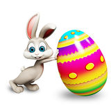 Easter bunny with big egg Stock Photos