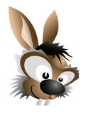 Easter bunny - vector. Easter bunny with big eyes Stock Photography