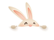 Easter bunny with big sign Stock Images