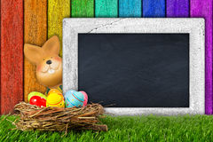 Easter bunny blackboard Royalty Free Stock Photos