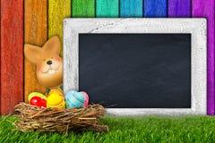 Easter bunny blackboard Royalty Free Stock Photos
