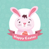 Easter Bunny On The Blue Background Royalty Free Stock Photography