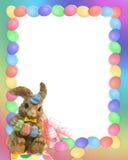 Easter bunny border stock photos