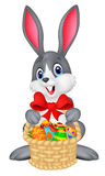 Easter bunny with bucket of eggs Stock Image