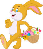 Easter bunny with bucket of eggs. Illustration of Easter bunny with bucket of eggs Royalty Free Stock Photography