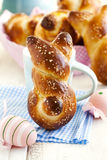 Easter Bunny Buns. Homemade Easter pastry Stock Image